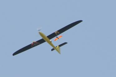 Tempest UAV releasing a CICADA Mark III glider