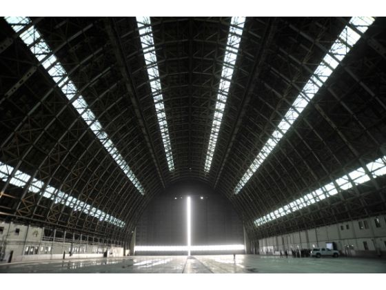 The north hanger,one of the largest standing wooden structures in the world is slated to for special events. 2011 Photo: Jeff Antenore OC Register