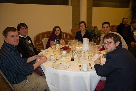 A group of students of the University of Akron's College of Engineering attended the Banquet. Photo: Dave Wertz