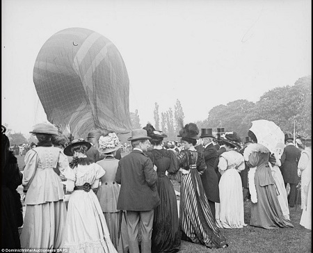 A balloon during inflation