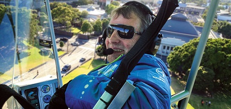 Haimo Wendelstein of Germany, airship pilot Photo: Bayer AG