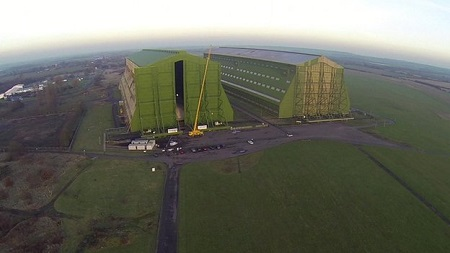 Cardington's hangars were built for Britain's early 20th Century airships. Source: BBC.com