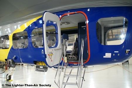 Access door to the gondola or passenger car.