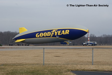 Starboard view of the Goodyear Blimp-NT. Photo: The Lighter-Than-Air Society