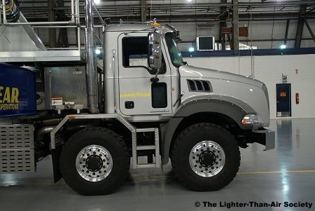 The truck has dual steering front axles. They also provide traction while the truck is in first gear.
