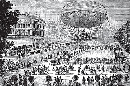 The Leppich hot air ballon test.  Image: UllsteinBild / Vostock_photo