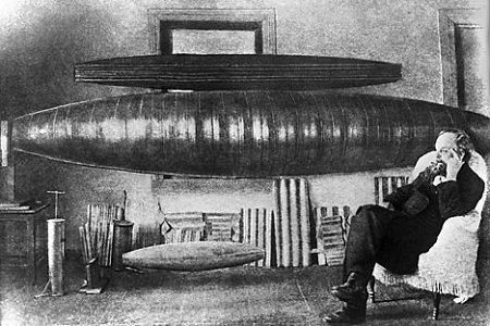 Konstantin Tsiolkovsky (1857-1935), Russian rocket scientist, pioneer of astronautic theory, at work.  Image: ITAR-TASS
