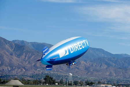 DirecTV blimp. Image courtesy of BusinessWire