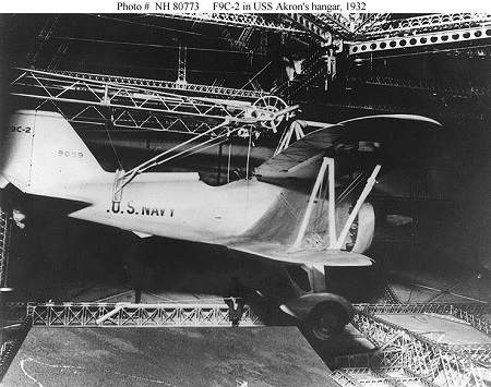 An F9C Sparrowhawk affixed to its trapeze hanger. Image: US Navy