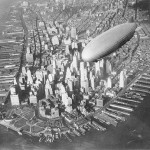 03 The USS Akron over Manhattan