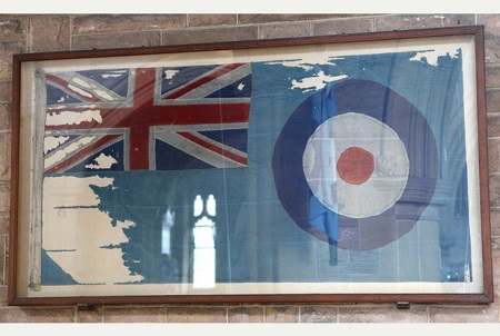 Cardington Memorial The flag that flew from the R101 airship is preserved inside Cardington Church.
