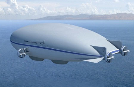 Lockheed Martin's P-791 Hybrid Airship. Photo courtesy of Lockheed Martin