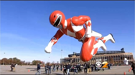 Red Power Ranger. Image: Courtesy CBS2 New York