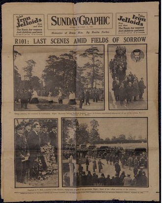 R101 memorial newspaper Sunday Graphic - R101 memorial issue.