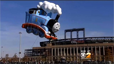 Thomas the Tank Engine at Citi Field. Image: Courtesy CBS2 New York