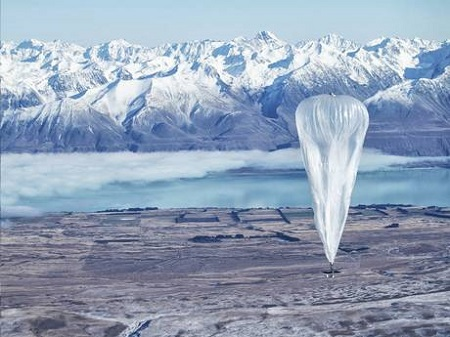 A Wi-Fi balloon on the ground during testing in Tekapo, New Zealand. Photo source: AP