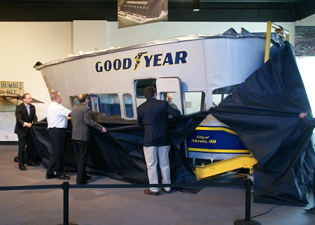 Unveiling of the Spirit of Goodyear gondola at its new home. Photo: Alvaro Bellon