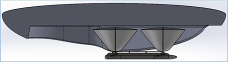 The MAAT's primary energy source will be photovoltaic arrays on the airship's upper surface Image credit: The Engineer