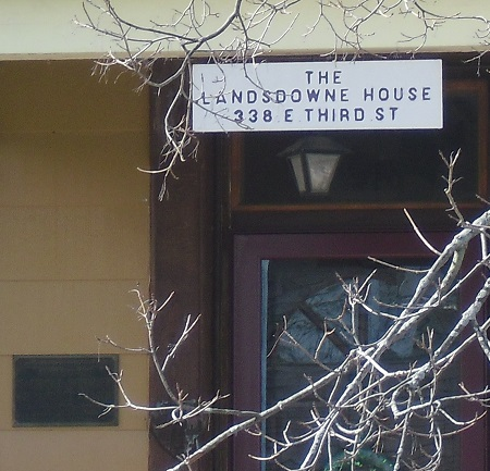 Sign at the entrance of the Lansdowne home in Greenville, Ohio. Photo: © Alvaro Bellon