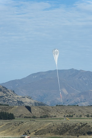 A NASA Super Pressure Balloon in the final moments leading up to launch from Wanaka, New Zealand, March 26. Image Credit: NASA/Balloon Program Office