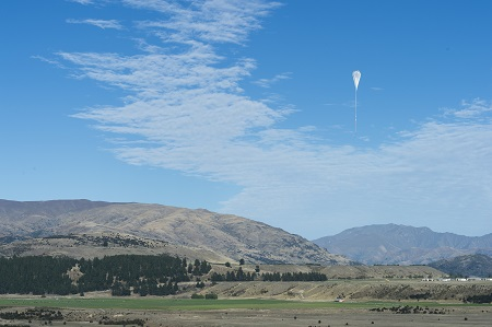 A NASA super pressure balloon takes to the skies on a potentially record-breaking, around-the-world flight, from Wanaka, New Zealand. Image Credit: NASA/Balloon Program Office