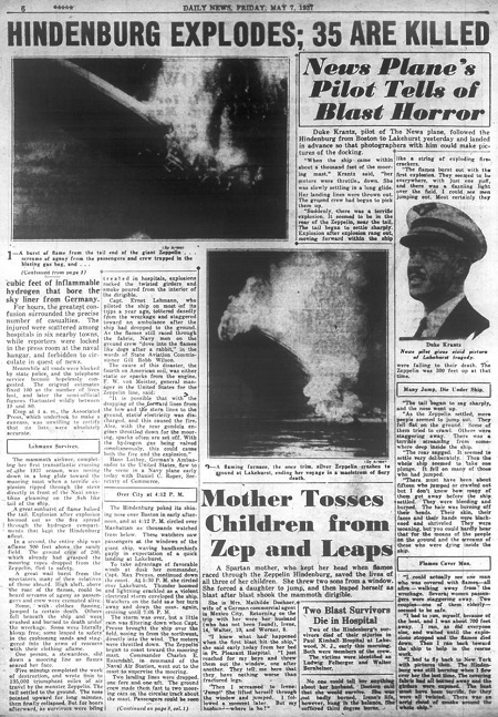 May 7, 1937 Daily News Page 6. Courtesy of the New York Daily News