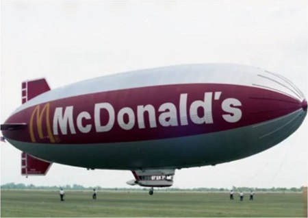 The McBlimp (1986). Source: The Houston Chronicle