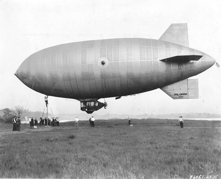 The maiden flight of the Pilgrim on June 3, 1925