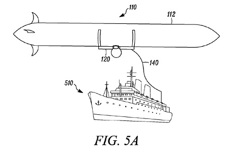 Drone tethered to a boat Source: US Patent US 9,045,218 B2