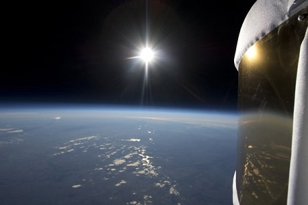 For around $130,000, this view can be yours for a few hours. In 2012, Zero2inifinity tested a scale model of its Bloon capsule in preparation for 2017 full-scale flights.  Image credit: Air and Space Magazine/Bloon