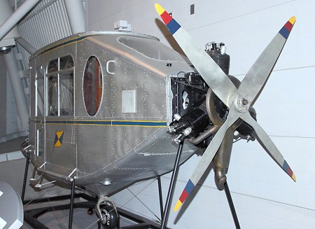 Aft view of the gondola of the Pilgrim on display at the Smithsonian's Steven F. Udvar-Hazy Center in Chantilly, VA Photo courtesy of bredow-web.de.