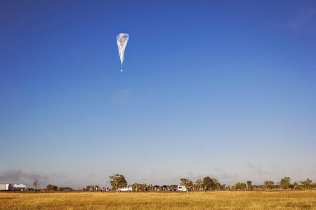 A Google Balloon is launched in Brazil. Photo: Wired/Google