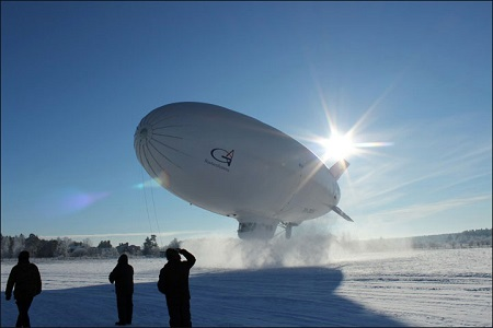 Augur RosAeroSystems already produces multifunctional airships for use in northern climate conditions.  Picture: Augur RosAeroSystems