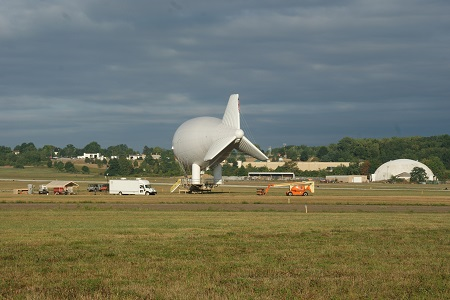 Th LM Aerostat moored on the grounds of the Akron Fulton Airport. Photo: © Alvaro Bellon