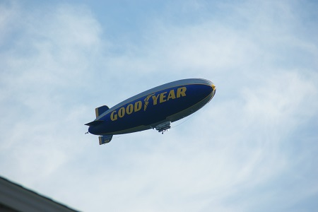 Goodyear's last GZ20A blimp, the Spirit of Innovation. Photo courtesy of Alvaro Bellon