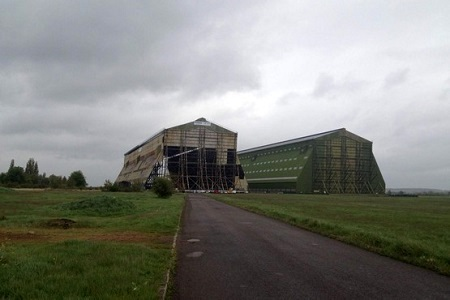 As work begins on refurbishing Shed One (L), its state of deterioration is obviousas compared to the Shed 2 which had been refurbished several years ago Credit Trevor Monk.