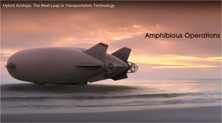 The hybrid airship will be capable of amphibious operations. Source: Lockheed Martin