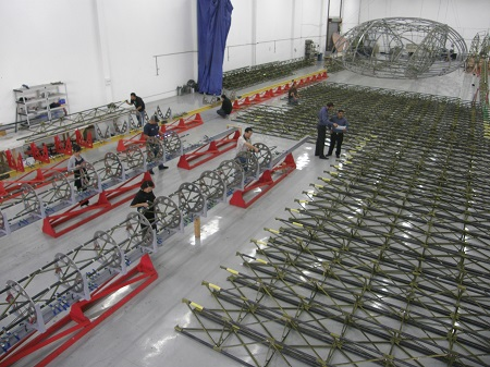 Truss component assembly (2009). Image courtesy of Aeroscraft Corp.