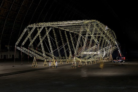 Truss/main frame assembly (2011) . Image courtesy of Aeroscraft Corp.