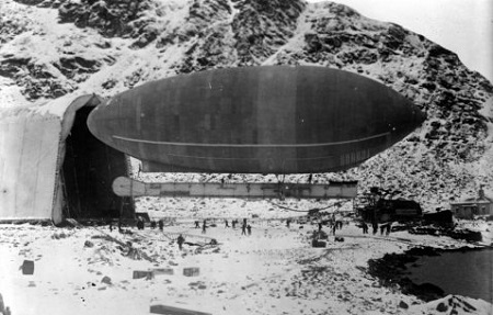 Walter Wellman's Airship at Spitsbergen. Courtesy of the Grenna Museum, Sweden/The Swedish Society of Anthropology and Geography