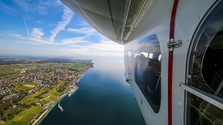 Zeppelin already offers short pleasure flights in airships from Friedrichshafen, Germany.  Credit: Zeppelin/Michael Haefner
