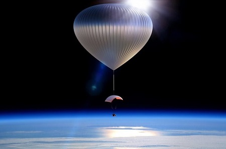 World View has plans to develop balloons to fly into the stratosphere for tourism, research, and other applications, some of which normally require the use of satellites.  Image credit: World View