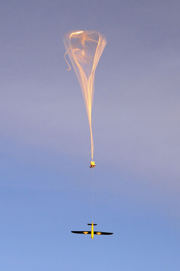 Deployment of the system by balloon