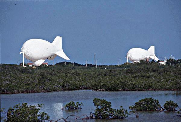 Cudjoe aerostats: Cudjoe Key Tethered Aerostat Radar Site Photo: wikimapia.org