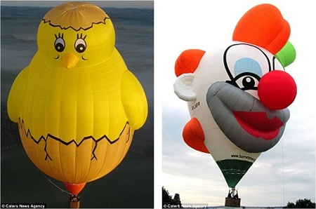 Weird creations: They have made all types of balloons - from world-record-breaking balloons - to weird and wacky shapes, film characters, space shuttles and even an upside-down balloon