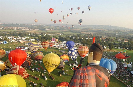 Balloons over Bristol: The Sky above Bristol is a sea of colour during the annual ballooning festival held every August