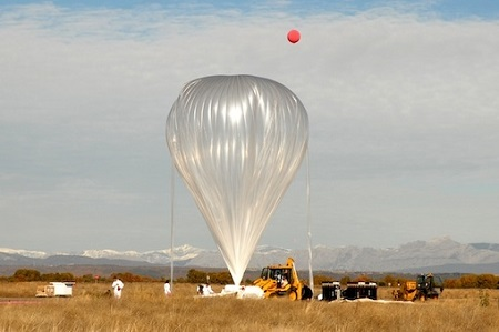 The inflated balloon is ready for ascent. Photo: Zero2infinity
