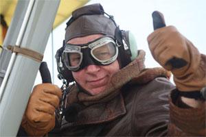 Hugh Hunt on a plane