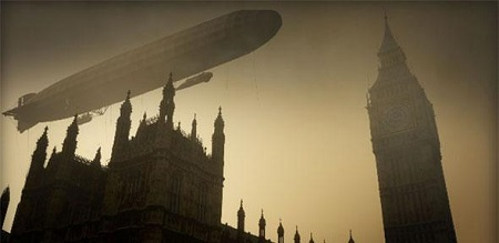 Screenshot from Attack of the Zeppelins  Photo: Windfall Films