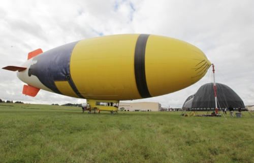 Despicablimp tour at the Akron Fulton Airport.  Photo: Phil Masturzo - Akron Beacon Journal